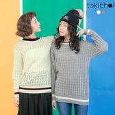東京著衣-tokicho-簡約配色長袖針織衫-S.M(171802)