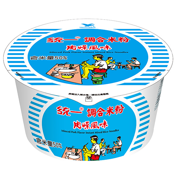 統一 調合米粉 肉燥風味(碗裝) 64g【康鄰超市】