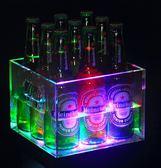 110v發光冰桶塑料冰粒桶亞克力香檳桶發光ktv冰塊桶酒吧啤酒冰桶大號第七公社