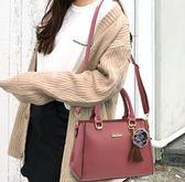[gogo購]單肩斜挎簡約百搭中年女包手提包