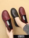 媽媽鞋 舒適平底媽媽鞋春秋新款牛筋軟底中老年人女鞋布鞋女單鞋子【全館免運】