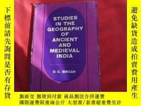 二手書博民逛書店STUDIES罕見IN THE GEOGRAPHY OF ANCIENT AND MEDIEVAL INDIA