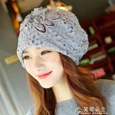 女帽子春夏薄款女士頭巾帽套頭包頭光頭帽子化療蕾絲帽特價 花間公主
