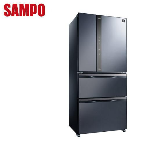 SAMPO聲寶 560公升一級變頻玻璃鏡面四門冰箱SR-NW56DD(B3)送安裝