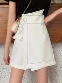 短裙 白色裙子夏季2020年新款不規則半身裙女夏短裙顯瘦高腰A字裙裙褲 韓國時尚週