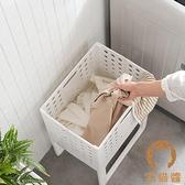 日式裝衣服桶髒衣服塑膠收納筐可折疊家用髒衣簍洗衣籃【宅貓醬】