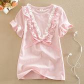 純棉運動短袖T恤夏季新品女童夏裝