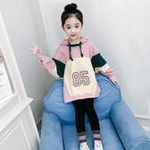 兩件套 女童洋氣套裝秋裝韓版兒童時髦潮衣童裝女孩衛衣兩件套秋【小天使】