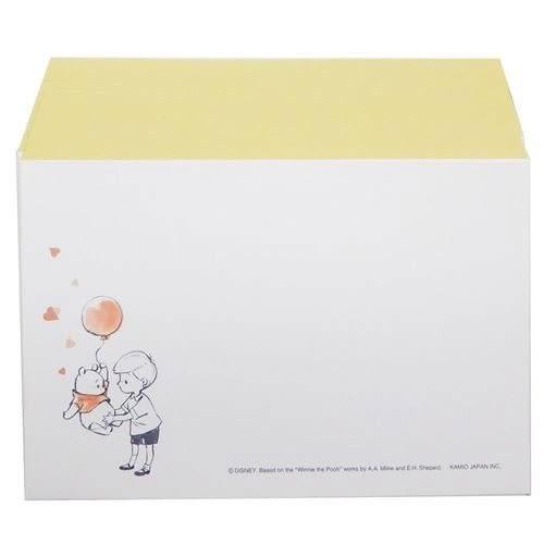 DISNEY 小熊維尼日本製極簡童趣信紙組S(氣球黃)★funbox★KAMIO_KM08520