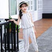 女童夏裝新款韓版潮童裝中大童洋氣潮衣服兩件套兒童時髦套裝  薔薇時尚
