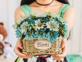客廳臥室仿真花裝飾花擺件婚慶茶幾塑料干花假花絹花客廳盆栽套裝    花間公主