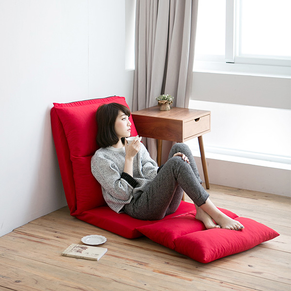 沙發床 和室椅 折疊椅【M0005】多功能五段式加長和室椅(紅色) MIT台灣製 收納專科 ac