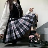 新款JK制服女裝正統百褶裙學院風學生格裙