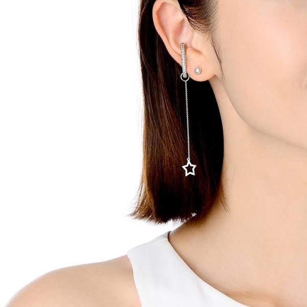 點睛品 Ear Play 18K星星垂吊耳飾