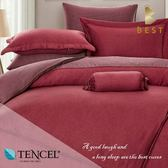 天絲床包兩用被四件式 雙人5x6.2尺 夏娃 100%頂級天絲 萊賽爾 附正天絲吊牌 BEST寢飾