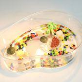 烏龜缸帶曬臺 小魚缸養烏龜專用缸塑料手提盆水陸缸