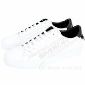 GIVENCHY 孔洞字母設計都市滑板鞋(白色) 1920478-20