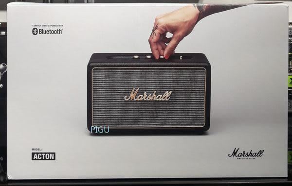 平廣 Marshall ACTON BT 黑色 藍芽喇叭 藍牙喇叭 可3.5mm音源輸入 家用型 喇叭 台灣公司貨保固1年 送禮