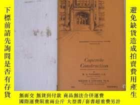 二手書博民逛書店民國:Concrete罕見Construction【USA】 房屋工程建造系列Y23766