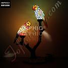 INPHIC-彩色玻璃鸚鵡檯燈 沙發角幾檯燈 床頭檯燈 咖啡店/酒吧檯燈_S2626C