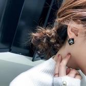 特賣耳環簡約黑色耳釘女耳環新款潮韓國高級耳飾品少女心超仙