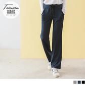 《KS0609-》台灣製造~寬版綁帶腰頭吸濕排汗雙口袋直筒運動褲 OB嚴選