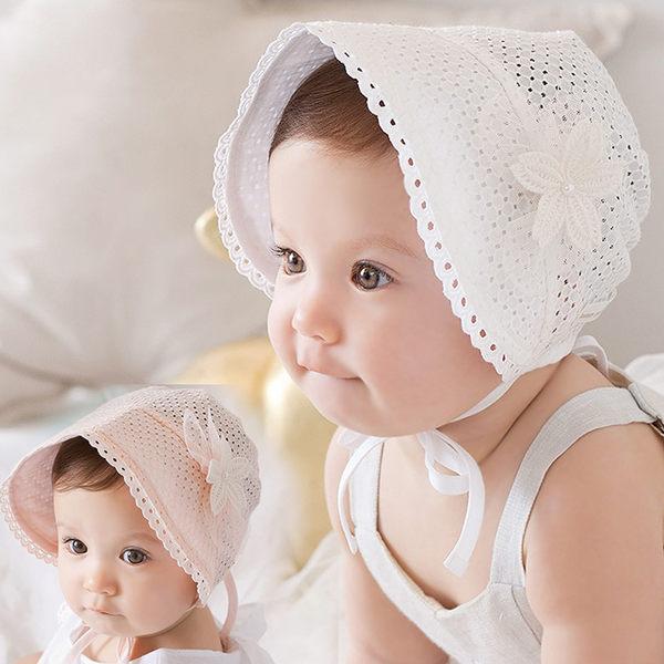 簍空蕾絲花朵遮陽帽  盆帽.圓帽  防曬帽  橘魔法 Baby magic 兒童 嬰兒 小童 花童 公主 周歲拍照