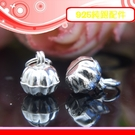 銀鏡DIY S925純銀材料配件/可愛Q版亮面南瓜鈴造型鈴鐺8.5mm~適合手作串珠/蠶絲蠟線(非合金)