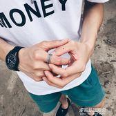 戒指潮人創意戒指男士個性復古麻繩指環霸氣學生禮物日韓單身戒子開口         多莉絲旗艦店
