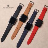 牛皮applewatch2/3錶帶真皮 iwatch3錶帶男女38/42