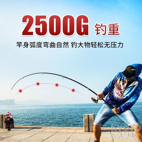 海竿套裝超輕超硬全套遠投竿專業甩桿拋竿紡車輪海釣竿巨物 京都3C YJT