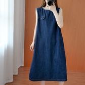 顯瘦丹寧牛仔口袋洋裝-中大尺碼 獨具衣格 J3087