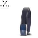 【橘子包包館】VOVA 真皮 沉穩熟男極致鏡面自動扣皮帶 VA012-003-BL 自動扣皮帶