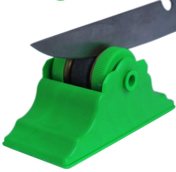 【TT229】帶底座磨刀石 廚房創意小用品 實用小工具型圓形快速磨刀石小商品