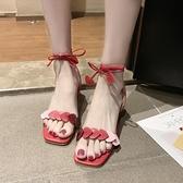 綁帶涼鞋 綁帶涼鞋女2020夏季新款韓版粗跟漂亮高跟鞋氣質晚晚涼鞋女仙女風