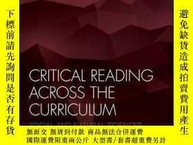 二手書博民逛書店Critical罕見Reading Across the Curriculum: Social and Natur