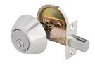 D101 磨砂銀 輔助鎖 補助鎖 防盜鎖 適用 鋁硫化銅門 木門 大門 一般房門 (60mm、扁平鑰匙)