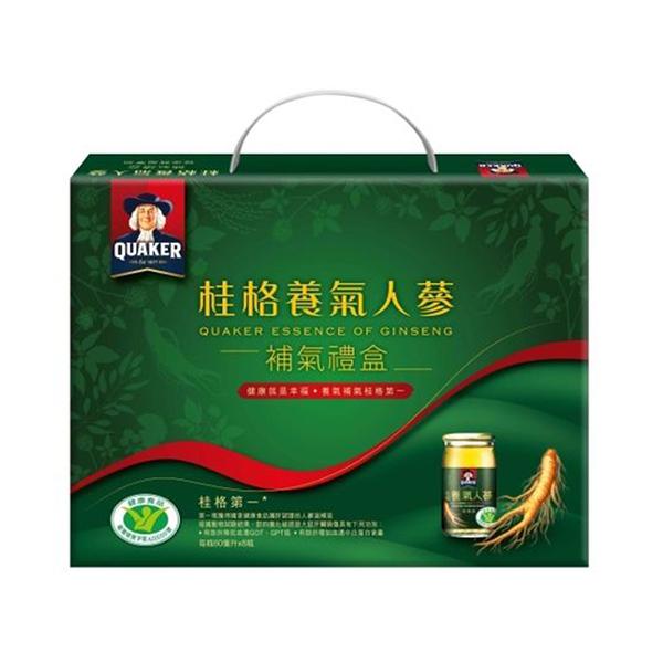 QUAKER 桂格 養氣人蔘禮盒60mlx 8瓶裝