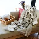 浴袍拖鞋-[妮卡浴袍拖鞋禮盒組30376-米]-30376-妮卡-米色-(好傢在)