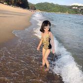 女童連體泳衣歐美時尚V領蕾絲中大童兒童游泳衣寶寶沙灘溫泉泳裝 LR9360【原創風館】