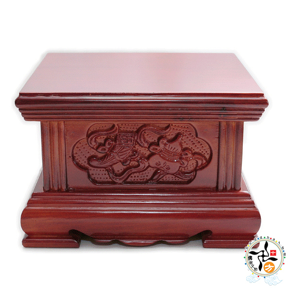 雙寶木座(寬18高12公分)  1個   【 十方佛教文物】