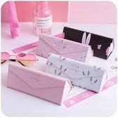 眼鏡盒  折疊少女心眼鏡盒 創意韓國小清新復古優雅簡約便攜學生男女  coco衣巷