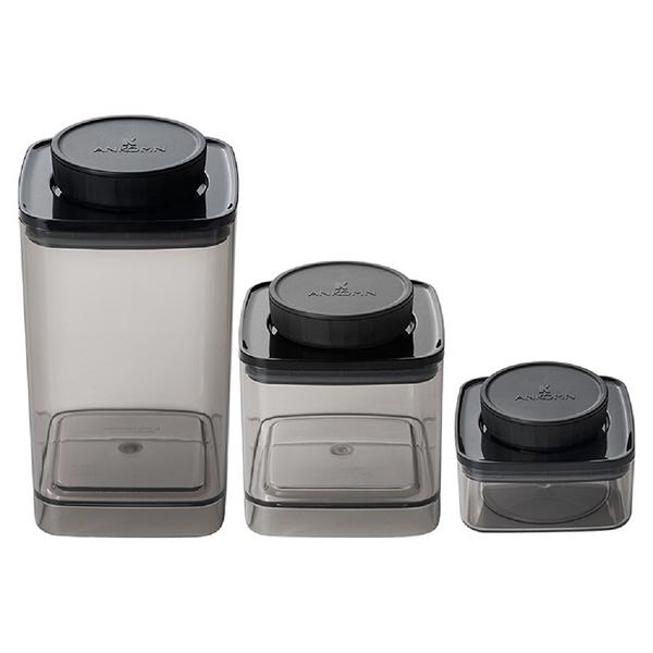 【沐湛咖啡】ANKOMN Turn-n-Seal真空保鮮盒 1.2L (透明黑) 密封罐 保鮮罐 咖啡儲豆罐