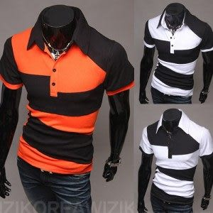 新款 衫 2014春款新品上市 男款時尚戶外休閒短袖T恤 拼接撞色男士POLO衫