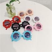 ins爆款兒童陽鏡可愛透明花朵墨鏡男女寶寶防曬偏光遮陽眼鏡 小明同學