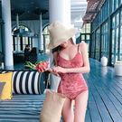 Qmigirl 泳裝【ET111】性感顯瘦連身三角高腰泳衣  溫泉 沙灘 BIKINI