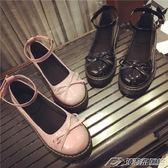 18春季新款日繫娃娃鞋原宿風平底圓頭小皮鞋蝴蝶結女鞋英倫女單鞋   潮流前線