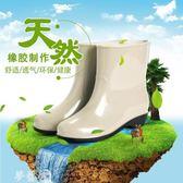 雨鞋 強人中筒雨鞋女防滑低幫防水橡膠鞋保暖水靴新款短筒保暖加厚 夢藝家