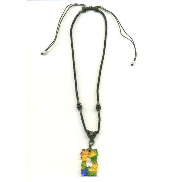 鹿港窯~居家開運水晶琉璃項鍊~螭琥〈又稱貔貅〉 附精美包裝 ◆免運費送到家