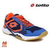 【LOTTO】男款排球鞋 藍橘色 (L6906)全方位跑步概念館